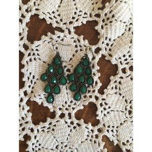 Teal drop earrings from Urban Outfitters